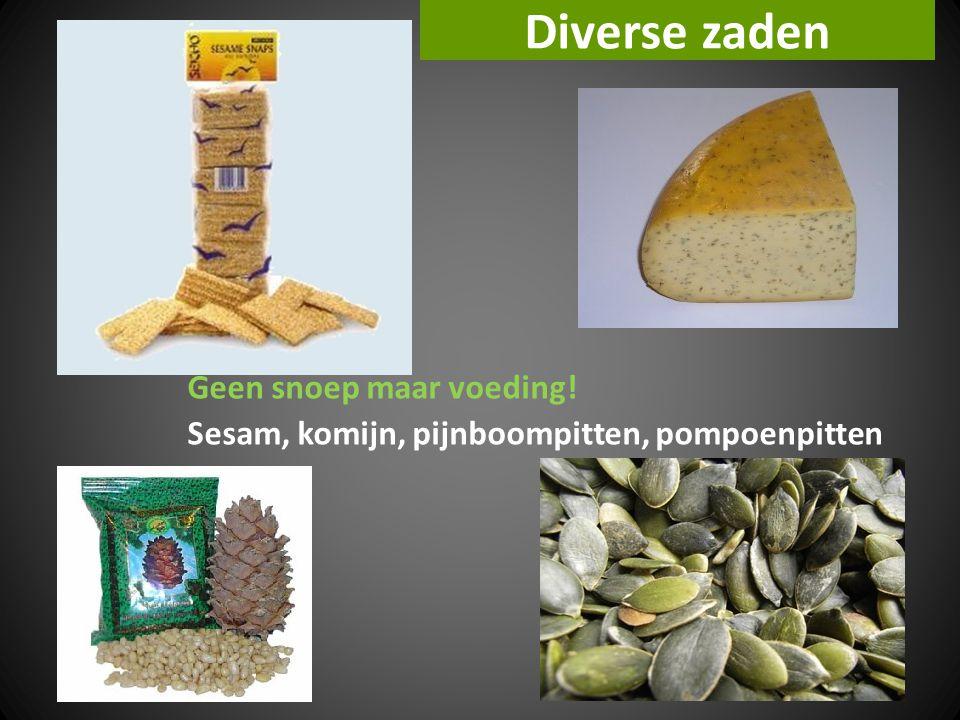 Diverse zaden Geen snoep maar voeding! Sesam, komijn, pijnboompitten, pompoenpitten