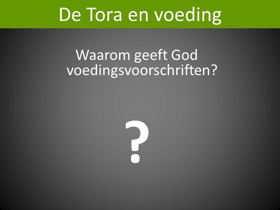 Waarom geeft God voedingsvoorschriften? ? De Tora en voeding
