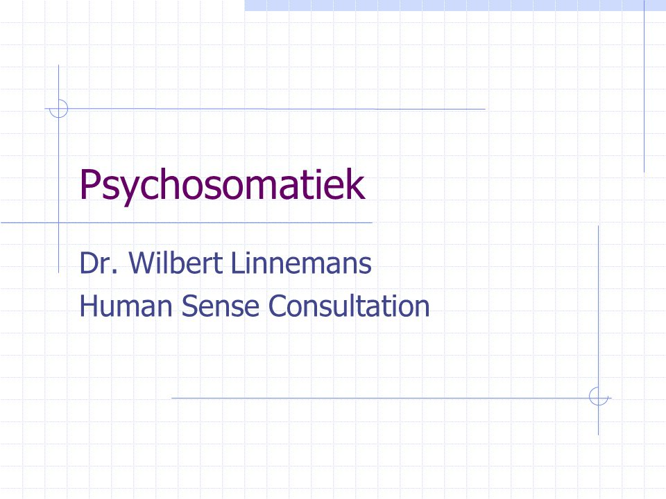 Psychosomatiek Dr. Wilbert Linnemans Human Sense Consultation