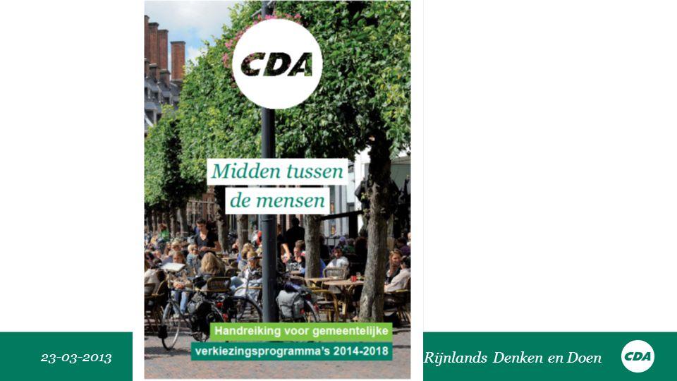 23-03-2013 Rijnlands Denken en Doen