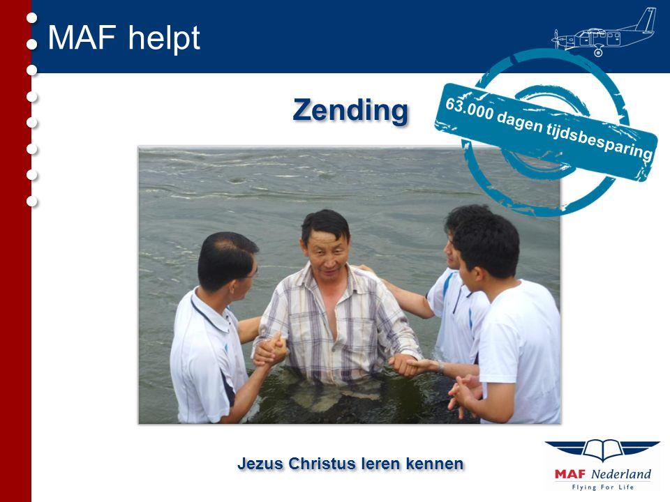 MAF helpt Zending Jezus Christus leren kennen 63.000 dagen tijdsbesparing