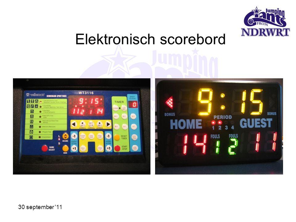 Elektronisch scorebord 30 september '11