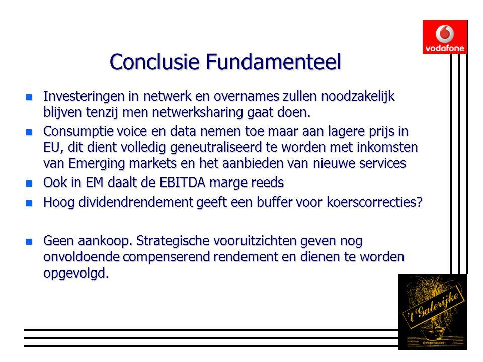 Conclusie Fundamenteel n Investeringen in netwerk en overnames zullen noodzakelijk blijven tenzij men netwerksharing gaat doen.