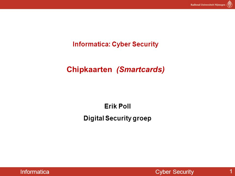Informatica Cyber Security 102 out-of-the box denken.