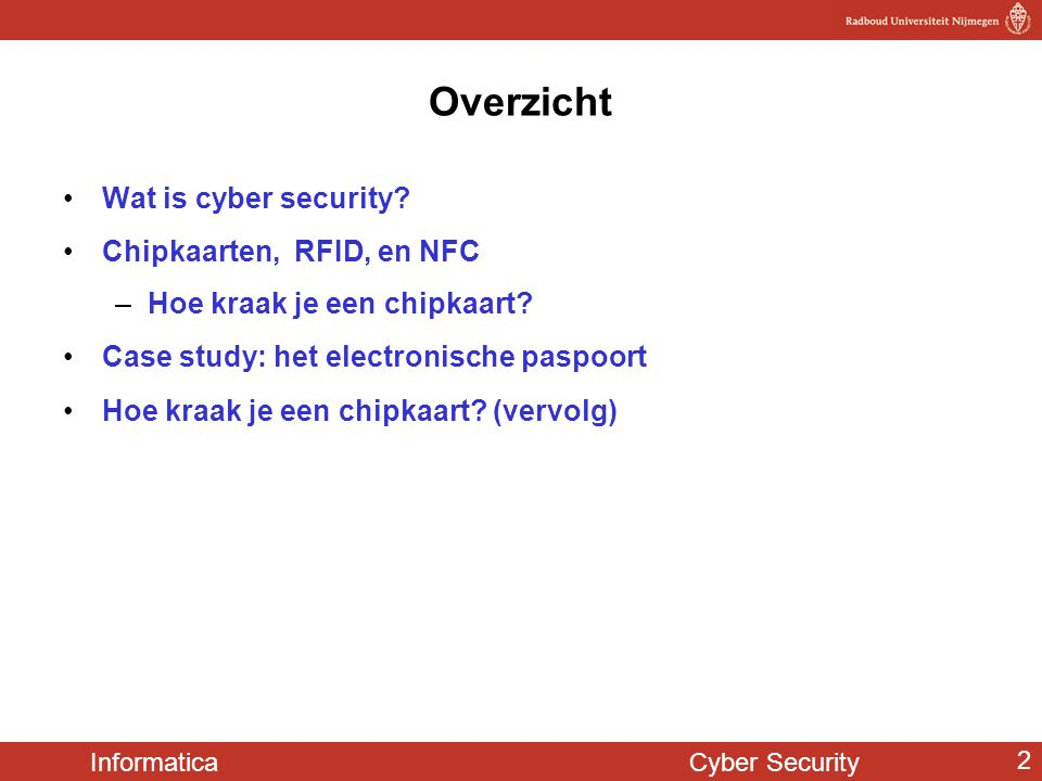 Informatica Cyber Security 3 Wat is Cyber Security?