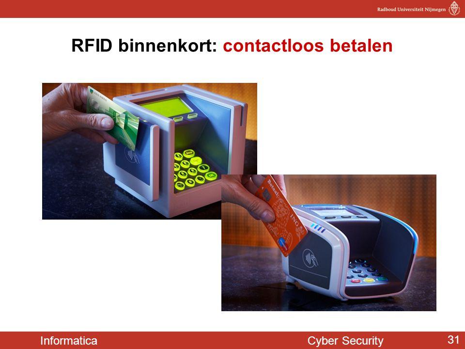 Informatica Cyber Security 31 RFID binnenkort: contactloos betalen