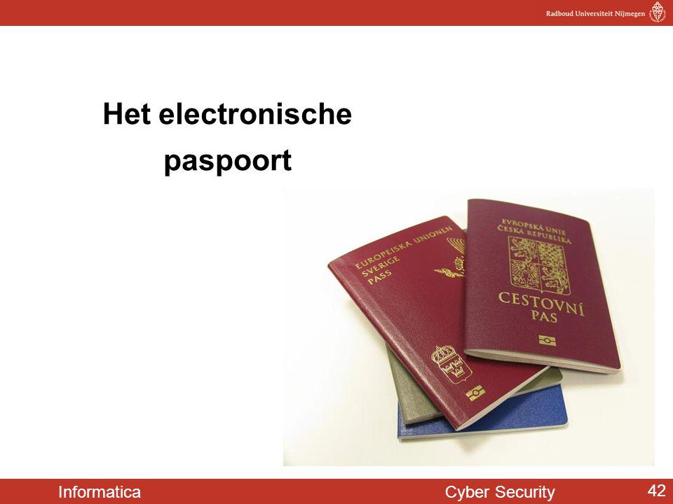 Informatica Cyber Security 42 Het electronische paspoort