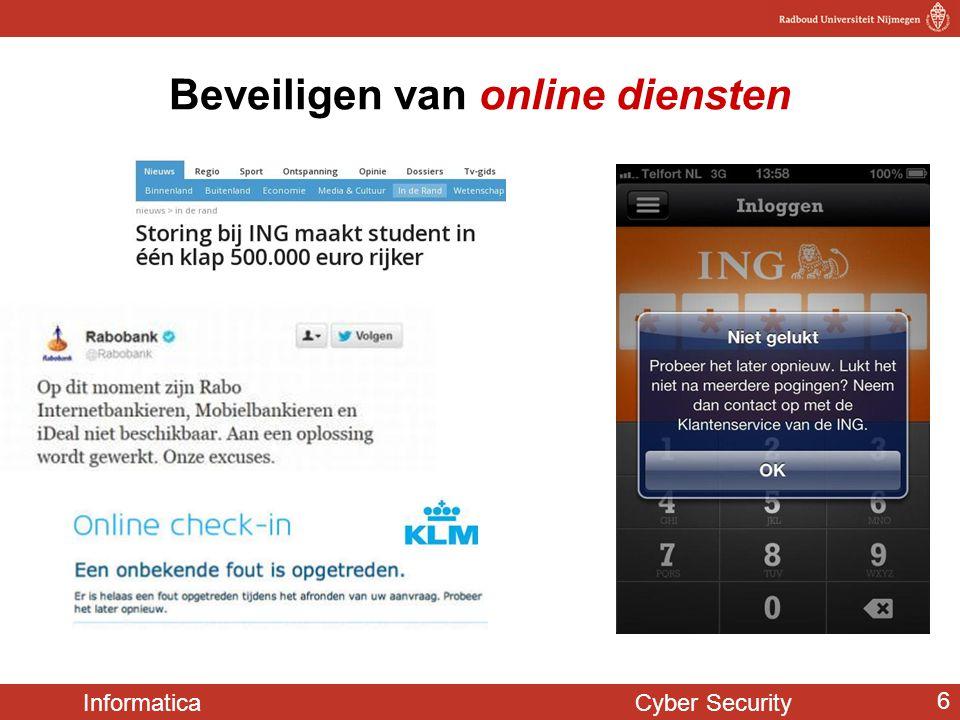 Informatica Cyber Security 6 Beveiligen van online diensten