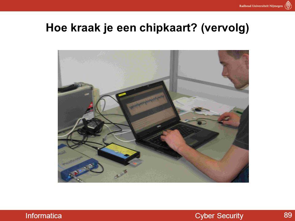 Informatica Cyber Security 89 Hoe kraak je een chipkaart? (vervolg)
