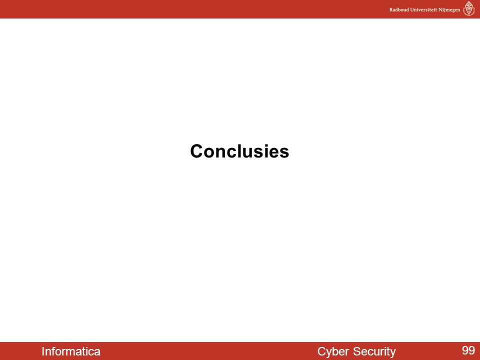 Informatica Cyber Security 99 Conclusies