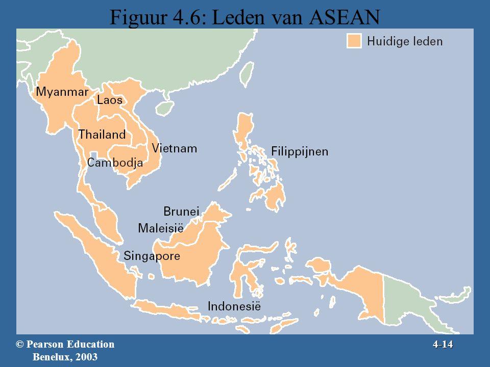 Figuur 4.6: Leden van ASEAN © Pearson Education Benelux, 20034-14