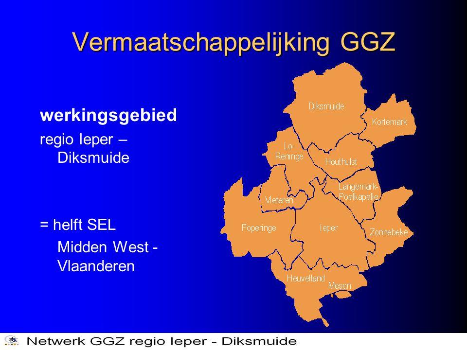 Vermaatschappelijking GGZ werkingsgebied regio Ieper – Diksmuide = helft SEL Midden West - Vlaanderen