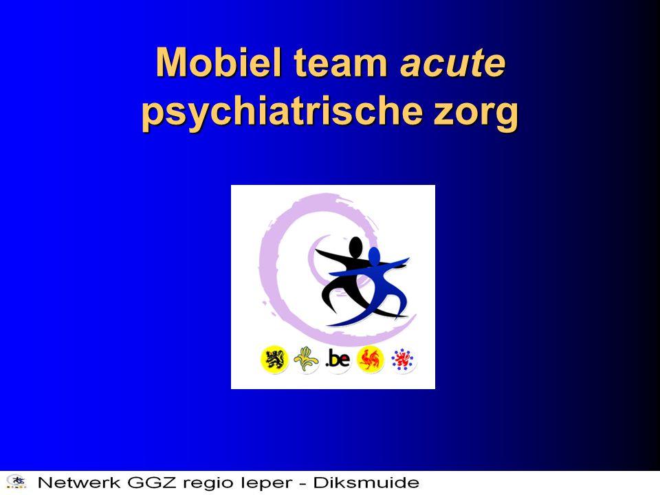 Mobiel team acute psychiatrische zorg