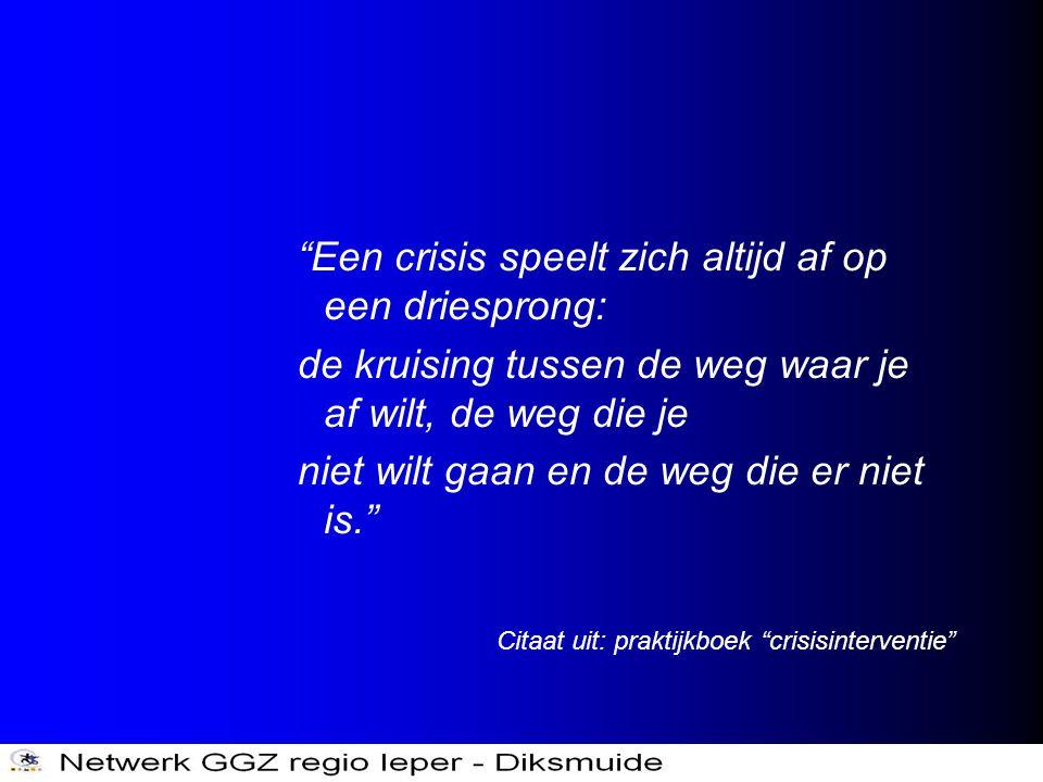 """""""Een crisis speelt zich altijd af op een driesprong: de kruising tussen de weg waar je af wilt, de weg die je niet wilt gaan en de weg die er niet is."""
