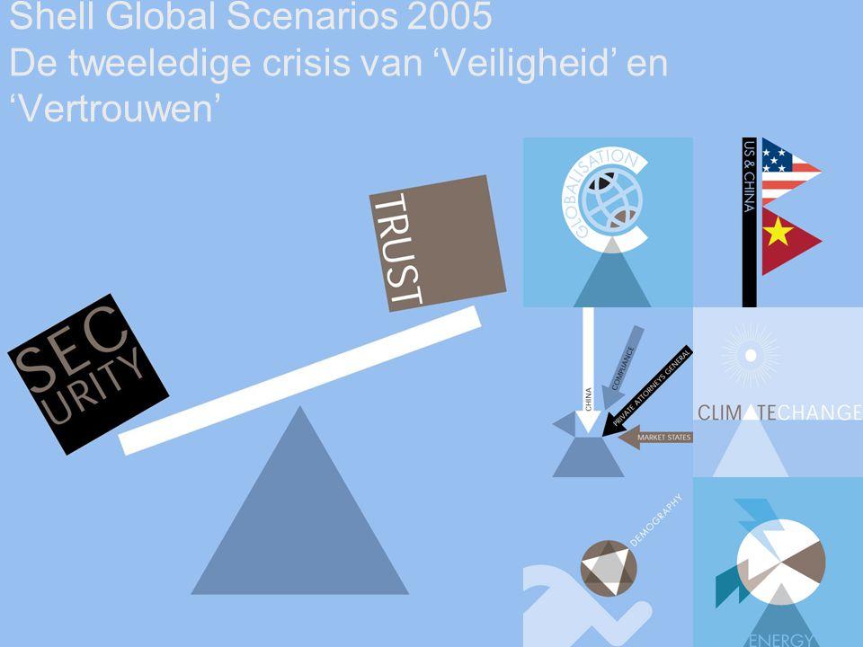 5 Shell Global Scenarios 2005 De tweeledige crisis van 'Veiligheid' en 'Vertrouwen'