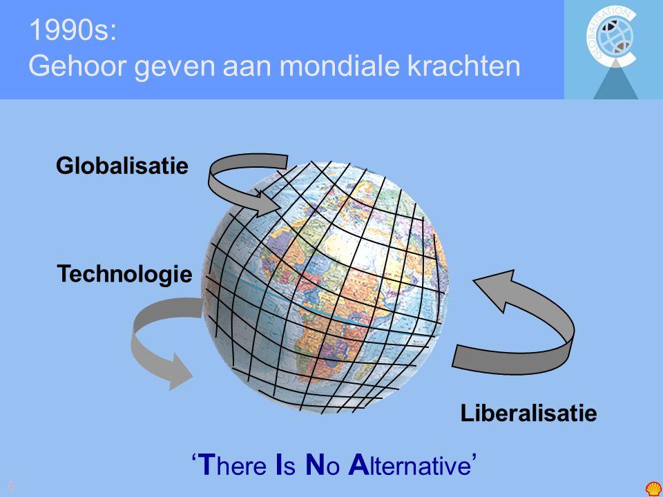7 Shell Global Scenarios in de 1990 jaren: TINA en de dilemma s van globalisatie Business Class Prism