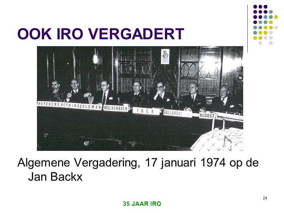 35 JAAR IRO 23  6 okt 1973 Jom Kippoer oorlog  Olie embargo, USA en Nederland  Stimulans voor offshore algemeen en de Noordzee in het bijzonder
