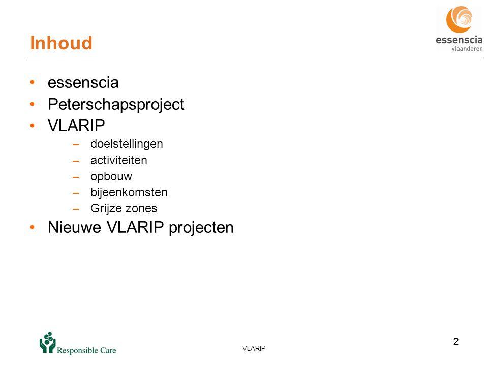 23 VLARIP 23 Problematiek eindgebruikers •Scope REACH: uitgesloten sectoren (voeding, farmacie) moeten (soms) wel aan REACH voldoen •definiëring van gebruik en blootstellingsscenario's .
