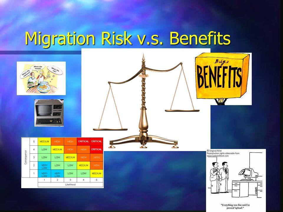 Migration Risk v.s. Benefits