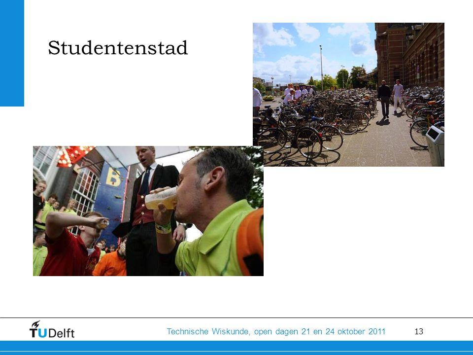 13 Technische Wiskunde, open dagen 21 en 24 oktober 2011 Studentenstad