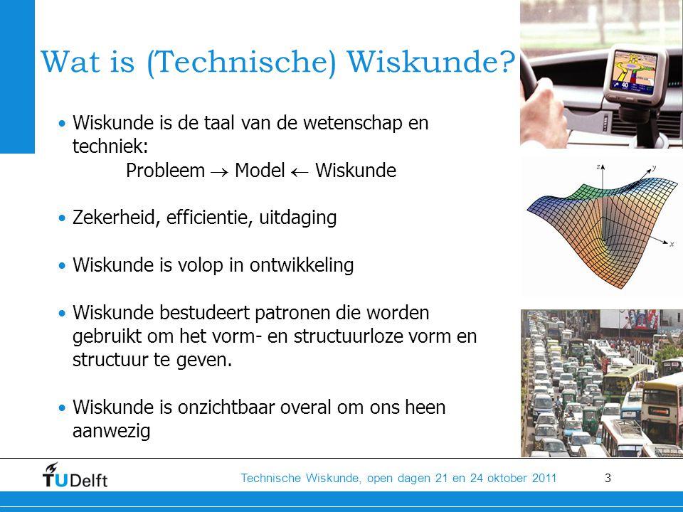 14 Technische Wiskunde, open dagen 21 en 24 oktober 2011 Nieuwe mensen leren kennen -Overal zijn nieuwe mensen: studie, studentenvereniging, sportvereniging, huis -Introductieweekend vanuit de studie -Daarna introductieweek Delft (OWee)