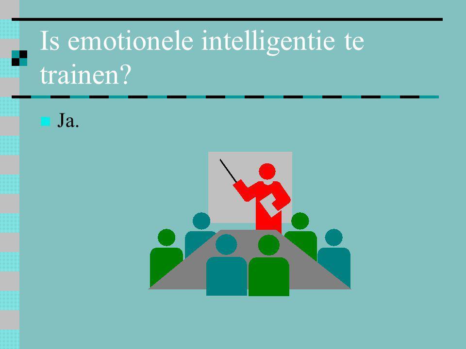 Is emotionele intelligentie te trainen?  Ja.