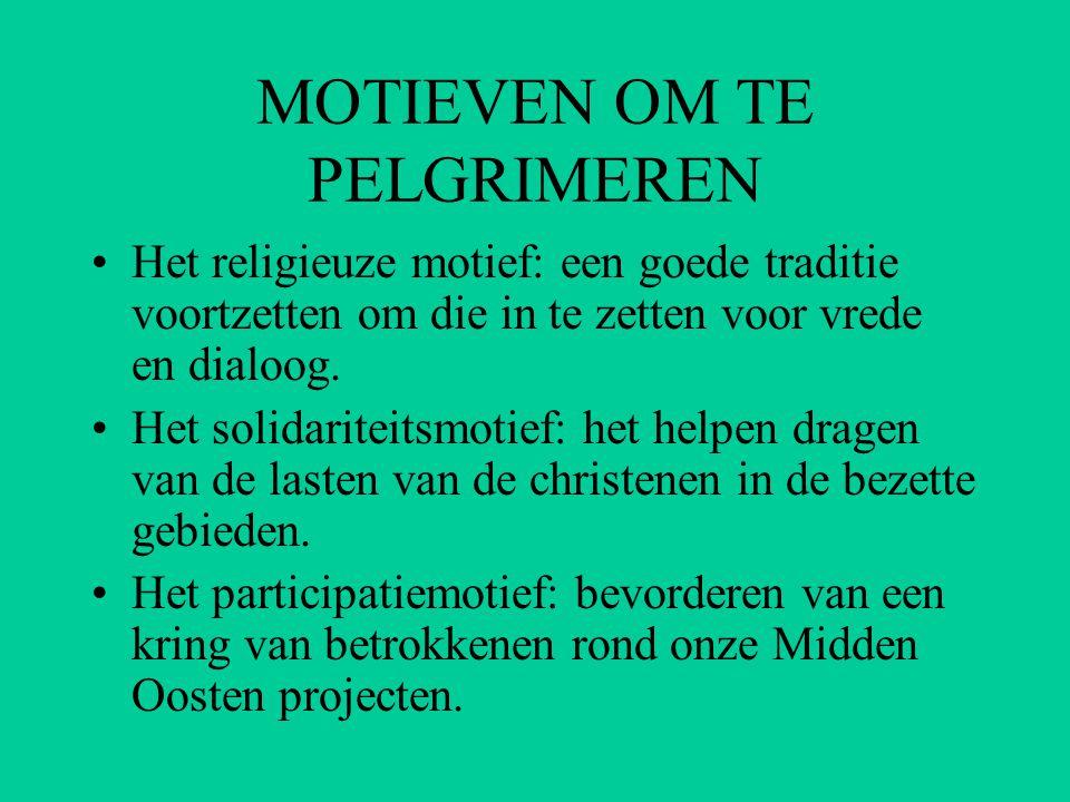 HET RELIGIEUZE MOTIEF •Vredesapostolaat: voorgegeven christelijke vredesopdracht.