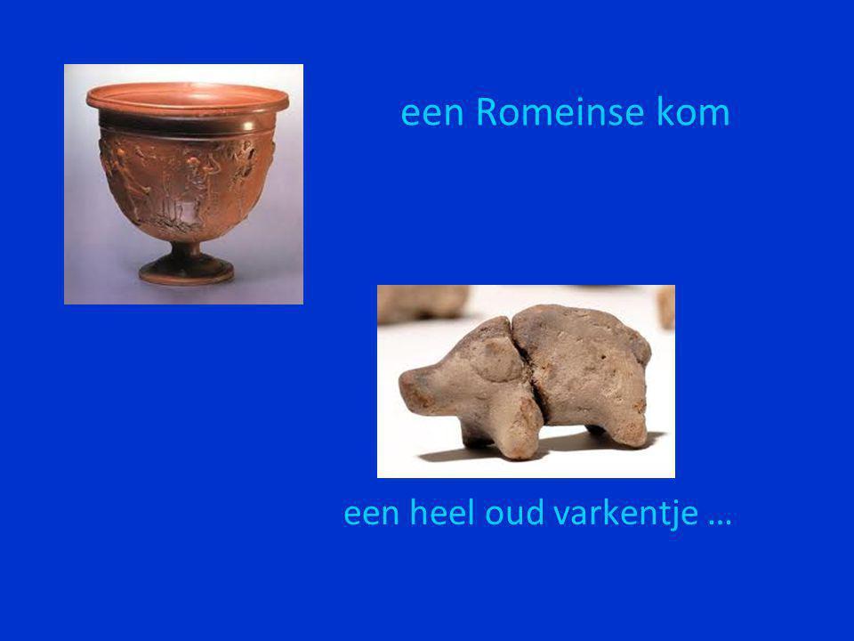 een Romeinse kom een heel oud varkentje …