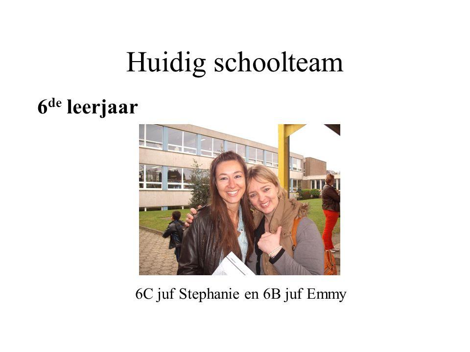 Huidig schoolteam 6 de leerjaar 6C juf Stephanie en 6B juf Emmy