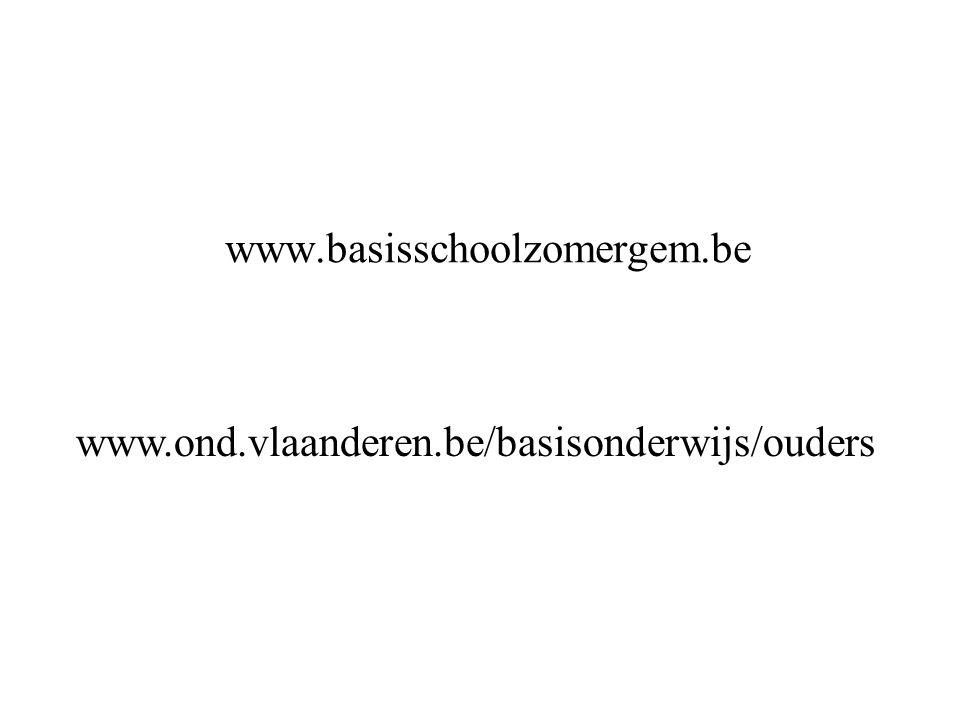 www.basisschoolzomergem.be www.ond.vlaanderen.be/basisonderwijs/ouders