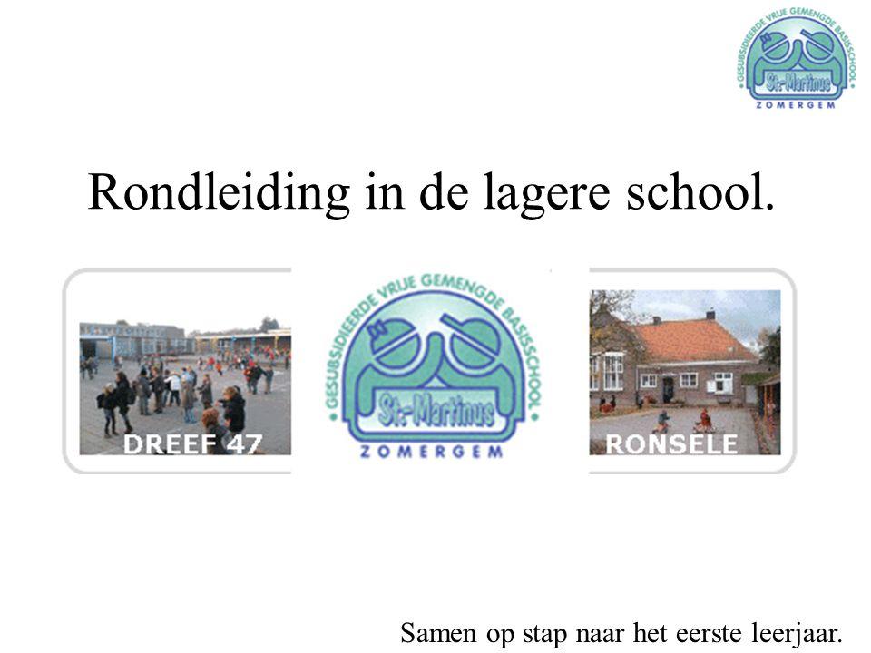 Rondleiding in de lagere school. Samen op stap naar het eerste leerjaar.