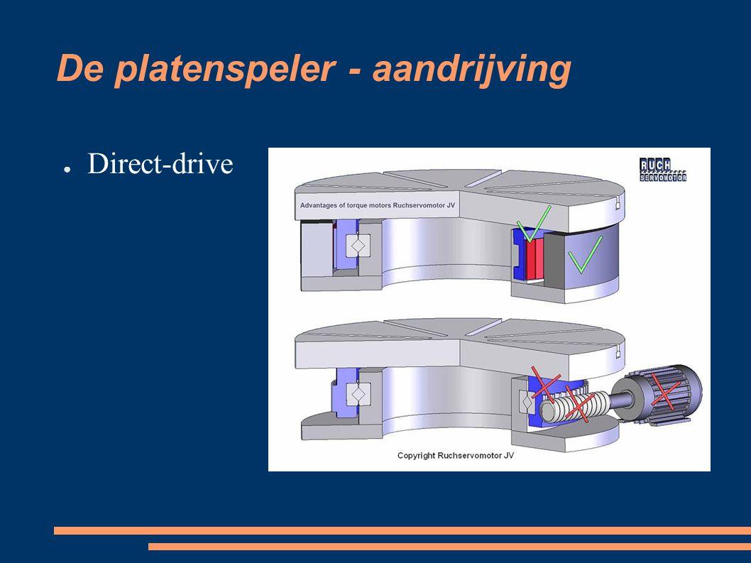 De platenspeler - aandrijving ● Direct-drive