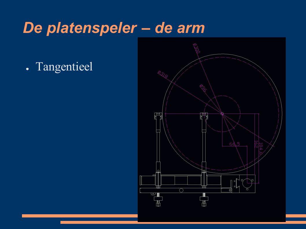 De platenspeler – het element 4 hoofdsoorten: ● Kristal ● Keramisch ● Moving magnet (MM) ● Moving coil (MC)