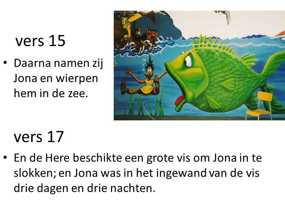 vers 15 • Daarna namen zij Jona en wierpen hem in de zee.