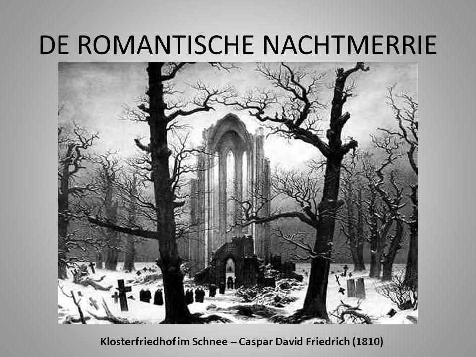 DE ROMANTISCHE NACHTMERRIE Klosterfriedhof im Schnee – Caspar David Friedrich (1810)