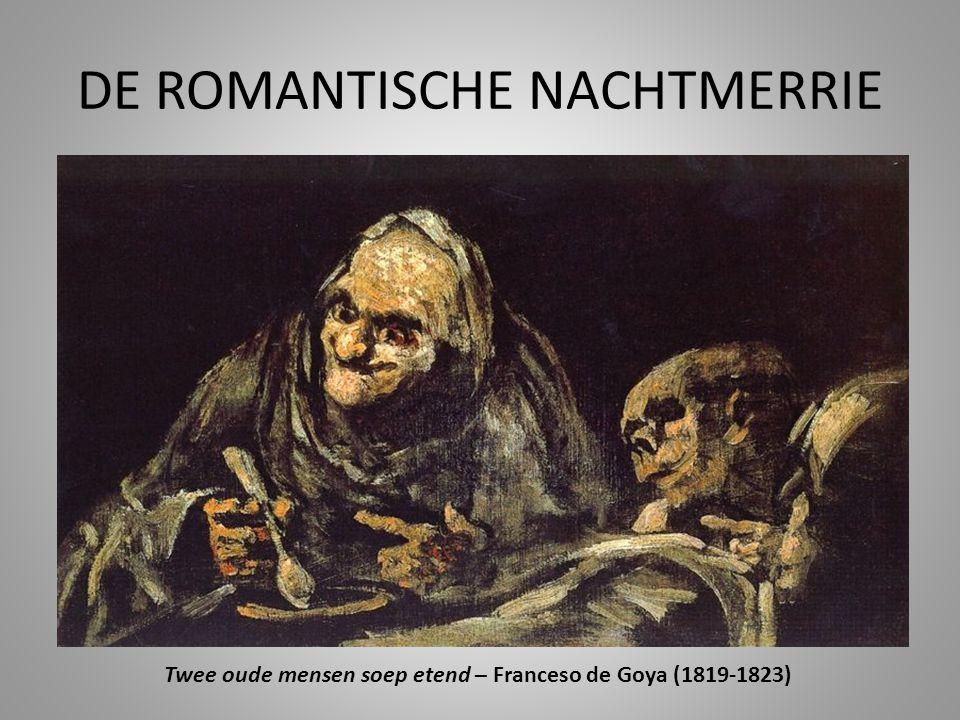 DE ROMANTISCHE NACHTMERRIE Twee oude mensen soep etend – Franceso de Goya (1819-1823)