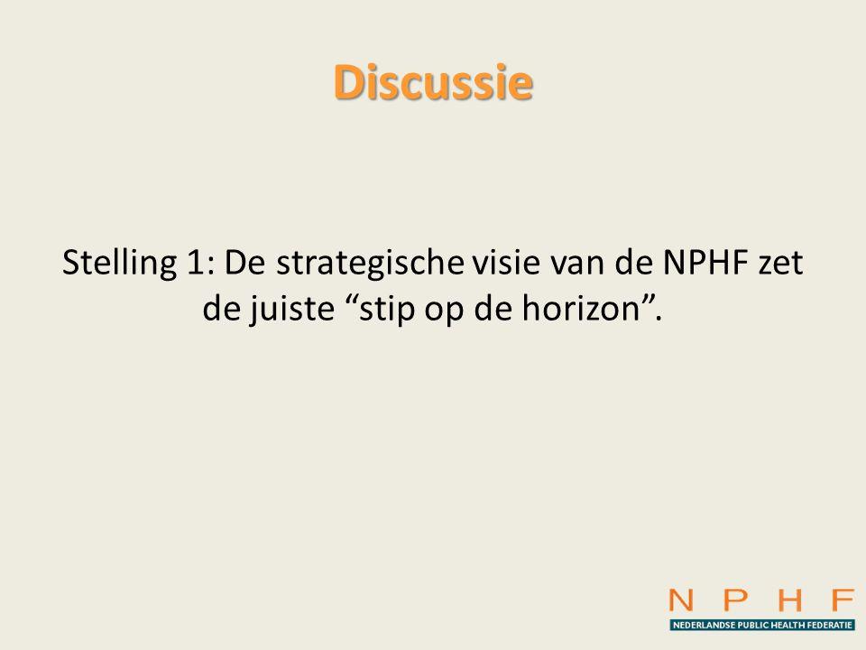 """Discussie Stelling 1: De strategische visie van de NPHF zet de juiste """"stip op de horizon""""."""