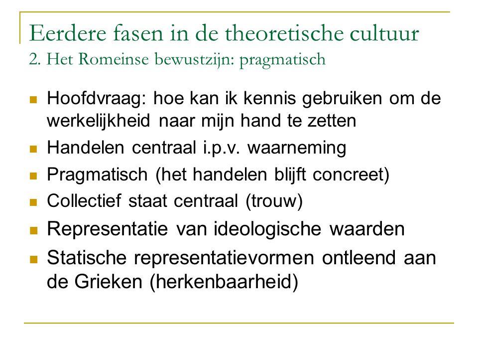 Eerdere fasen in de theoretische cultuur 2.