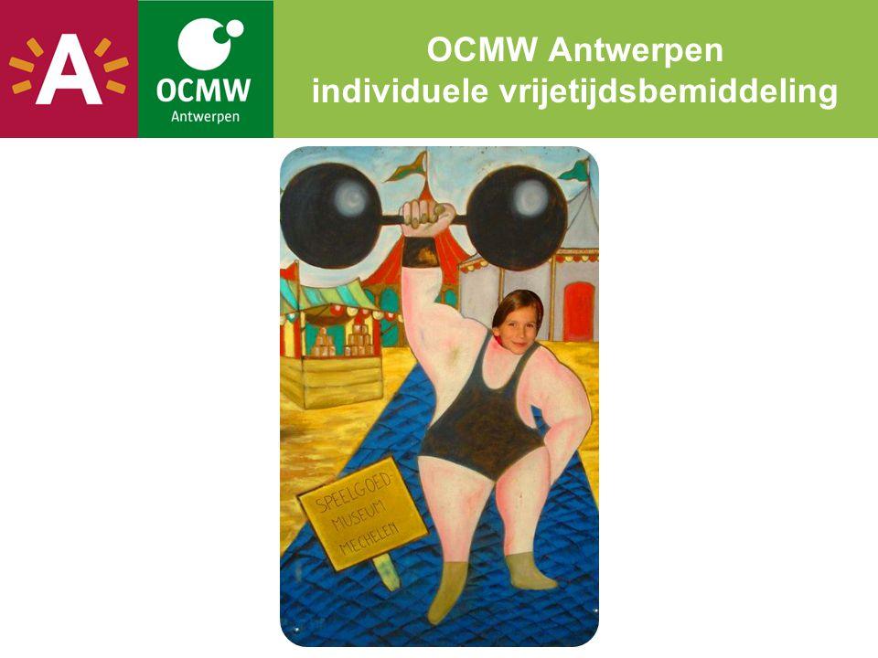 OCMW Antwerpen individuele vrijetijdsbemiddeling