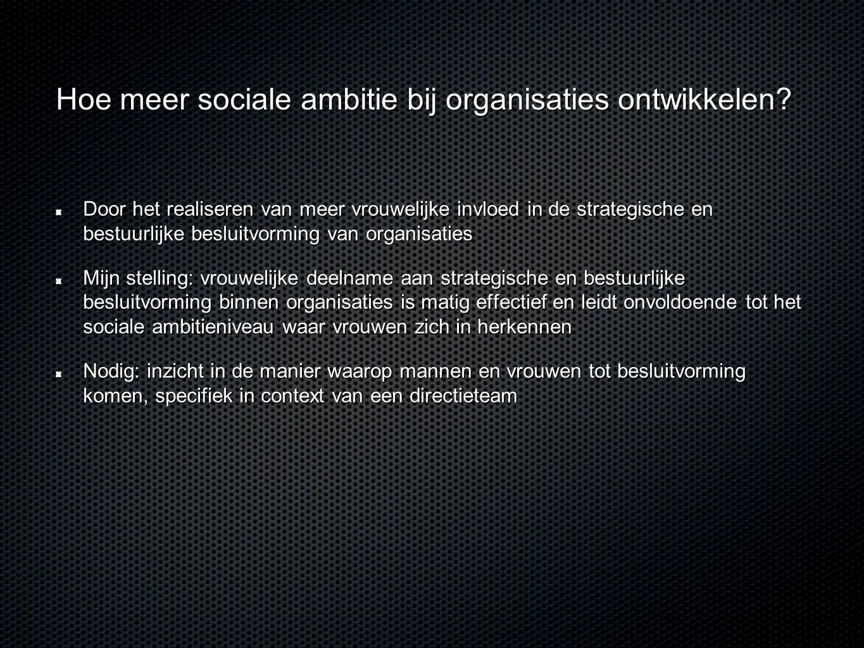 Hoe meer sociale ambitie bij organisaties ontwikkelen? Door het realiseren van meer vrouwelijke invloed in de strategische en bestuurlijke besluitvorm