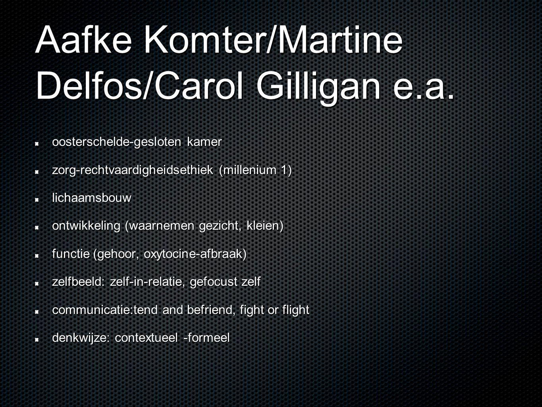 Aafke Komter/Martine Delfos/Carol Gilligan e.a. oosterschelde-gesloten kamer zorg-rechtvaardigheidsethiek (millenium 1) bouw lichaamsbouw ontwikkeling