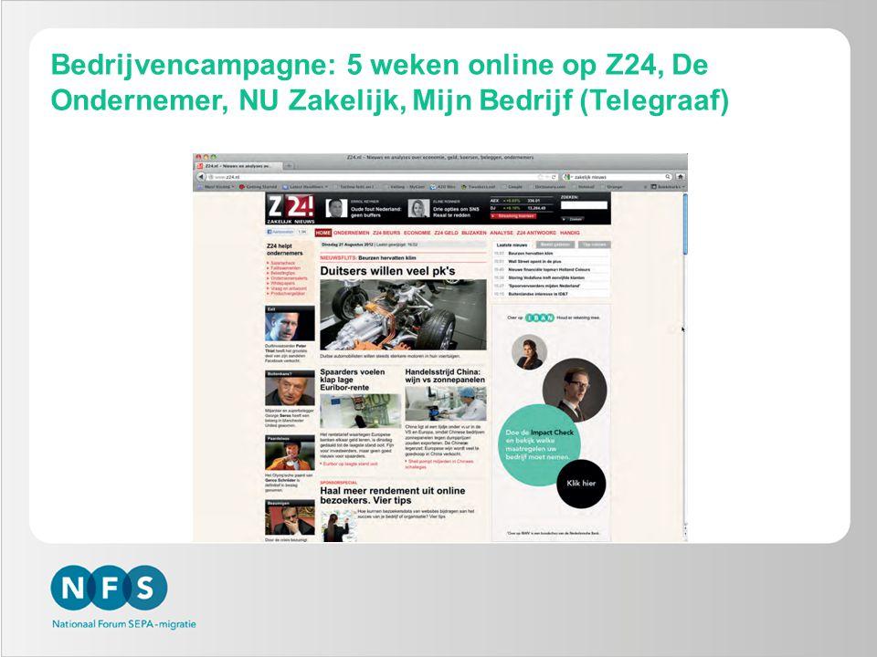 Bedrijvencampagne: 5 weken online op Z24, De Ondernemer, NU Zakelijk, Mijn Bedrijf (Telegraaf)