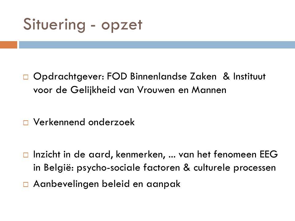 Onderzoeksteam  Onderzoekers:  Anke Van Vossole (part-time)  Elli gilbert (part-time)  Promotoren:  Kristel Beyens (VUB)  Els Leye (UGent)  Jan Snacken (VUB)  Gily Coene (VUB – coördinatie)  Oktober 2010-2011