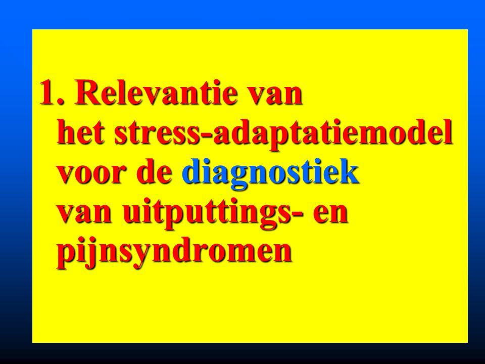 1. Relevantie van het stress-adaptatiemodel voor de diagnostiek van uitputtings- en pijnsyndromen 1. Relevantie van het stress-adaptatiemodel voor de