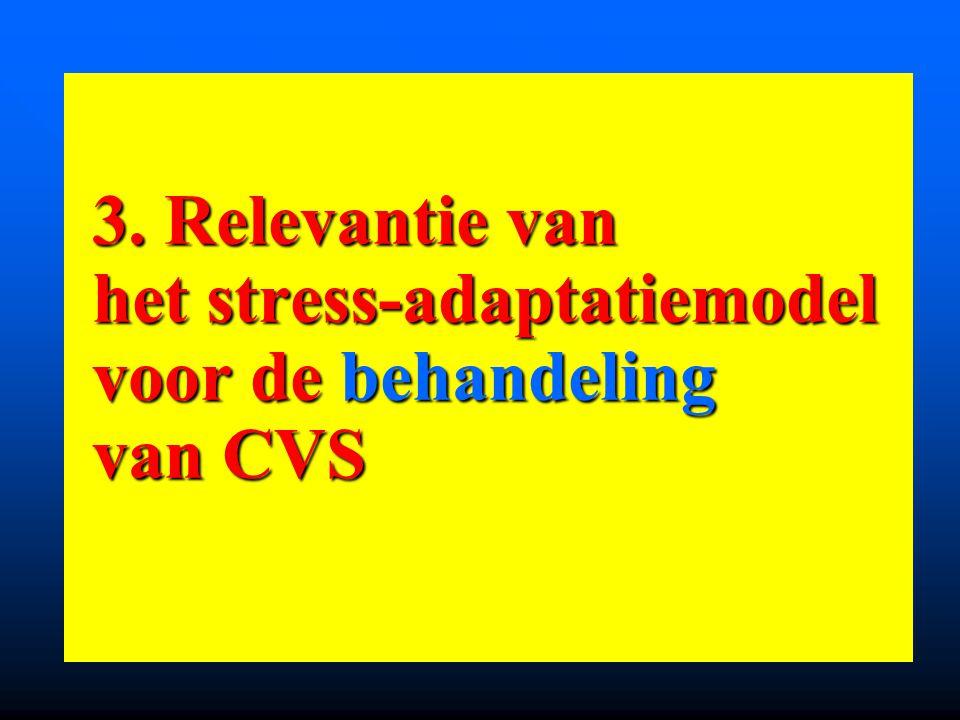 3. Relevantie van het stress-adaptatiemodel voor de behandeling van CVS 3. Relevantie van het stress-adaptatiemodel voor de behandeling van CVS
