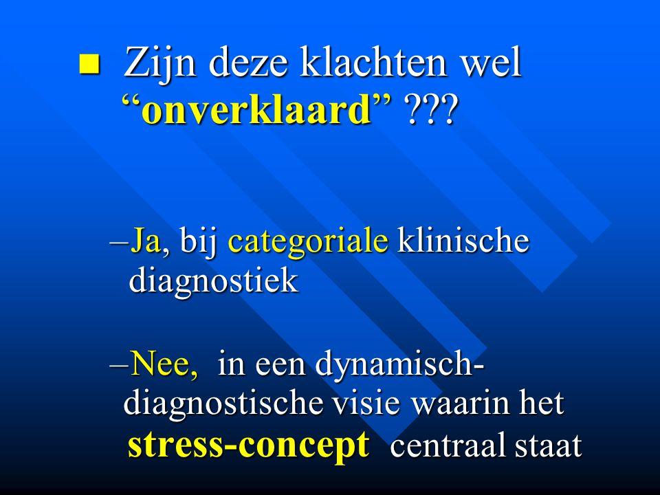 • Categoriale diagnostiek