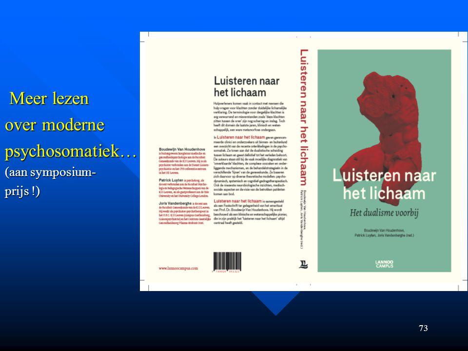 Meer lezen Meer lezen over moderne psychosomatiek… (aan symposium- prijs !) 73