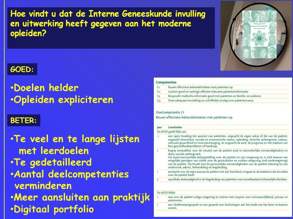 Landelijke Opleidersdag Interne geneeskunde Beter naar 2013 'Het opleidingscafe' Host Ingmar Nieuwold Hoe ziet het ideale opleidingsplan 2013 eruit.