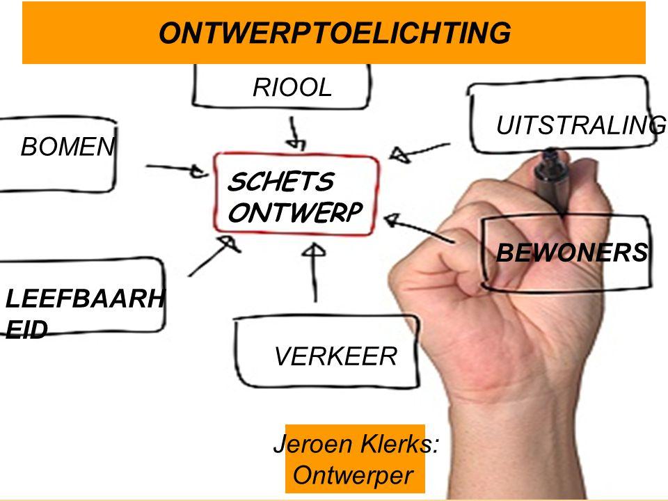 ONTWERPTOELICHTING UITSTRALING BOMEN VERKEER RIOOL BEWONERS LEEFBAARH EID Jeroen Klerks: Ontwerper SCHETS ONTWERP
