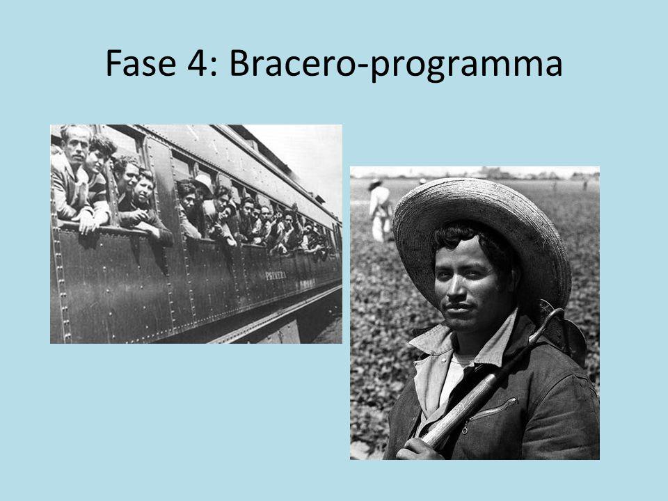 Fase 4: Bracero-programma